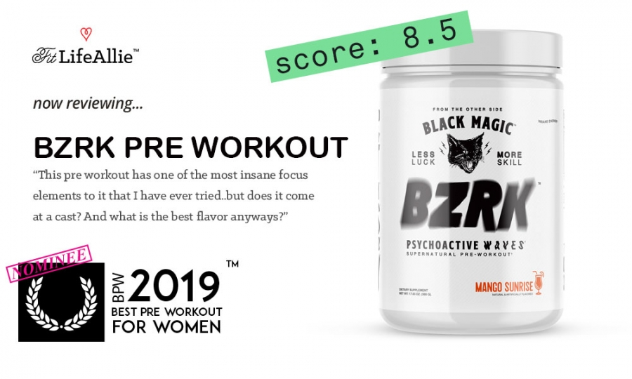 BZRK Pre Workout Review: Extremely Strong. Maybe Too Strong?